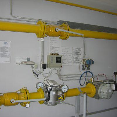 3б Котельная гостиницы Новотель, узел учета газа после наладочных работ